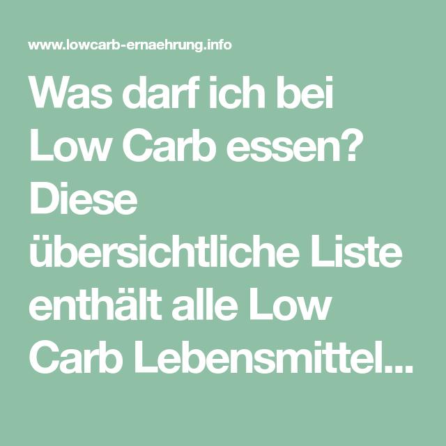 Low Carb Diät Essen erlaubt und nicht erlaubt