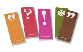 punctuation marks sticky notes... Need to order these from stylishsportsfan.com