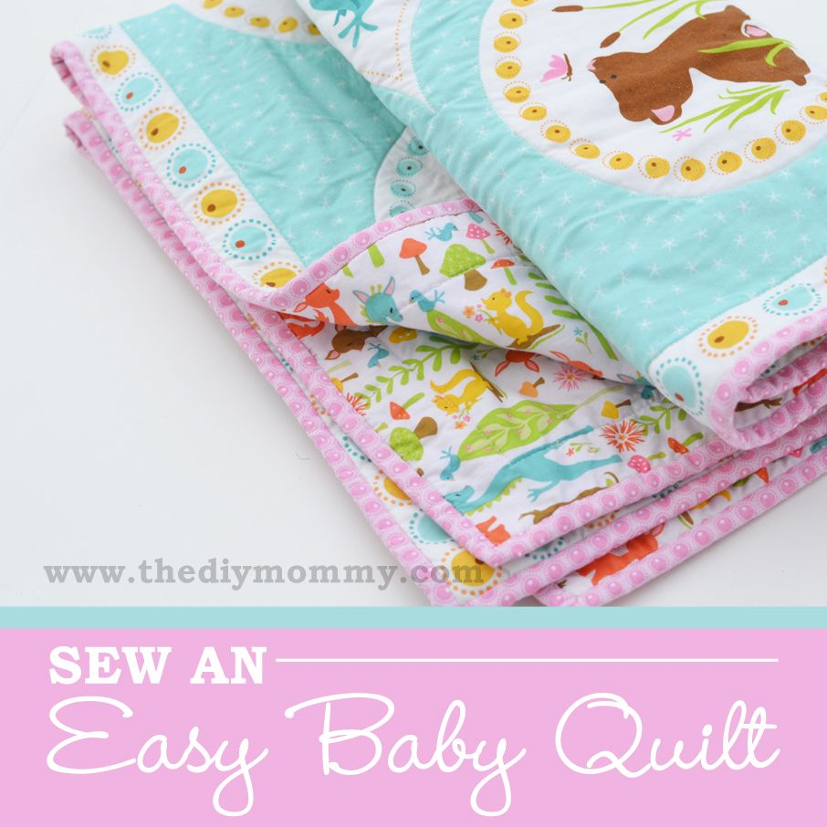 Sew An Easy Beginner S Baby Quilt Baby Quilts Easy Baby Blanket Sewing Patterns For Kids