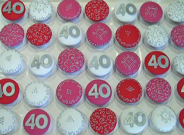 40th Birthday Cupcakes on Pinterest 40th Birthday Cakes Cake and
