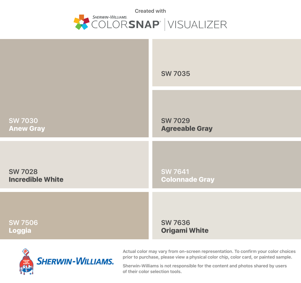 I found these colors with colorsnap visualizer for iphone - Sherwin williams loggia exterior ...