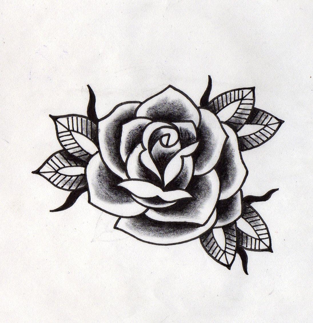 Rosa Negra Tradicional Tatuaje De Rosa Tatuajes De Rosa Tradicionales Tatuaje De Rosas En Acuarela