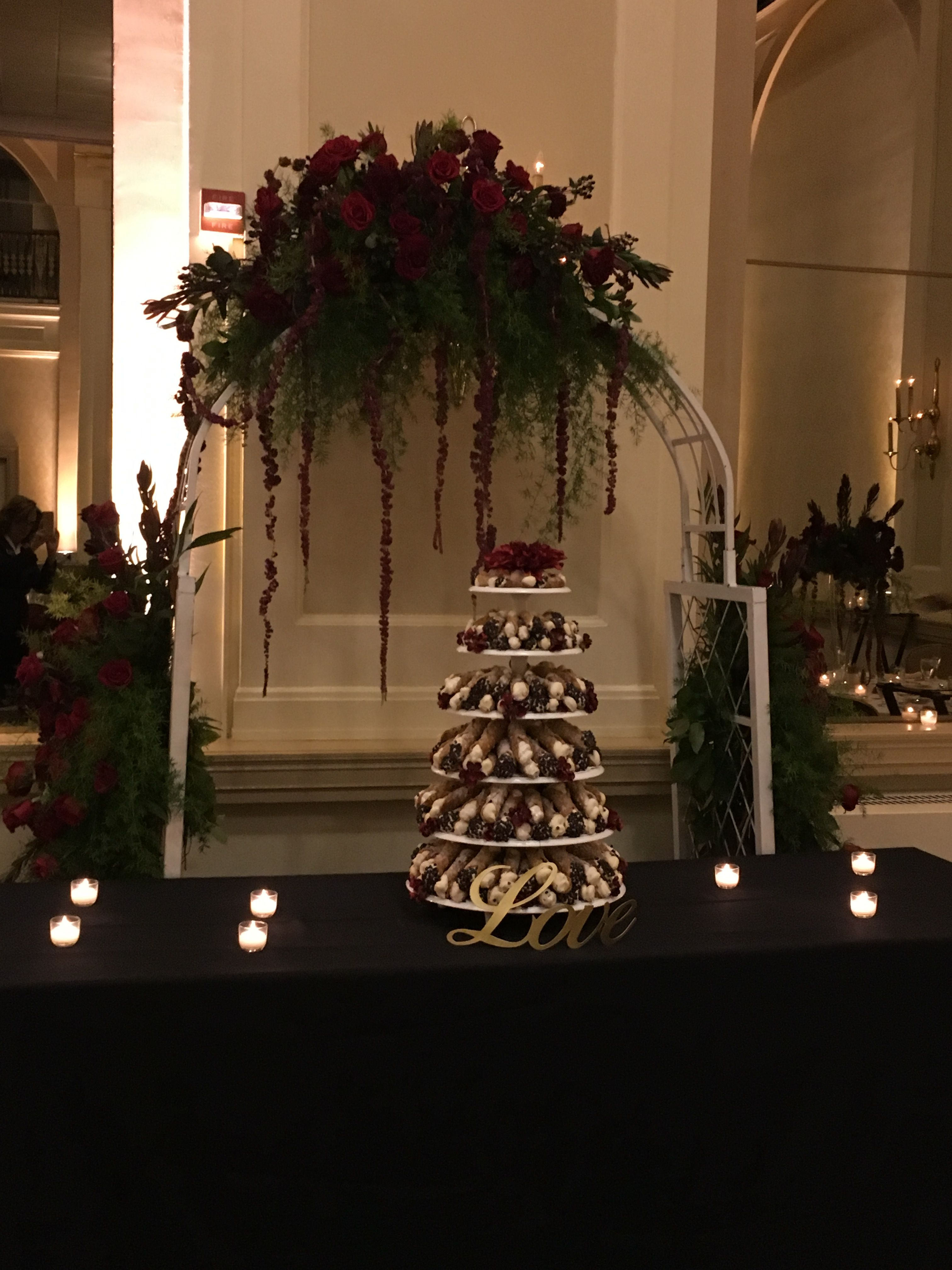 Cannoli Tower Decor Cake Mural Painting