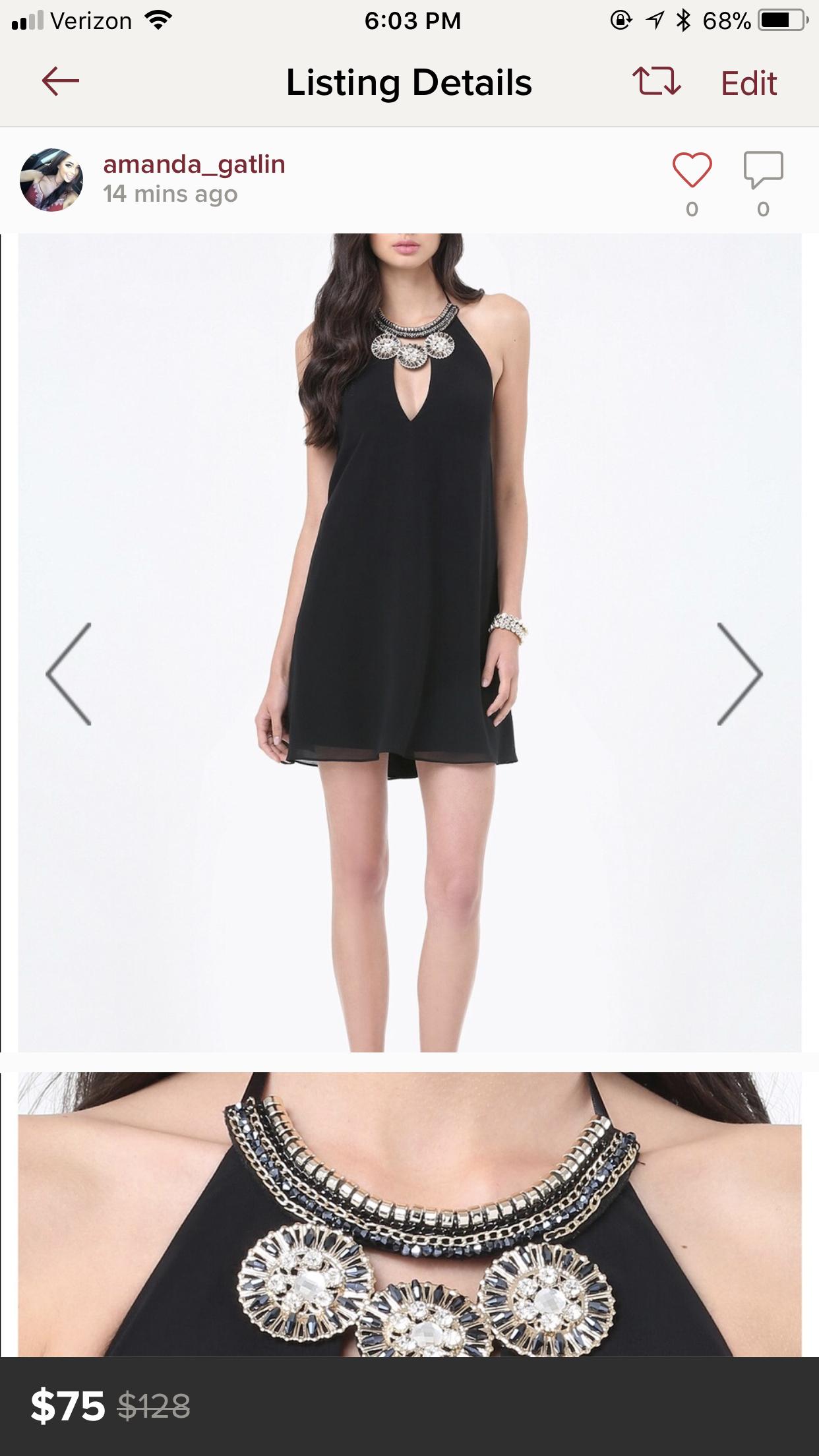Bebe Black Halter Cocktail Dresses