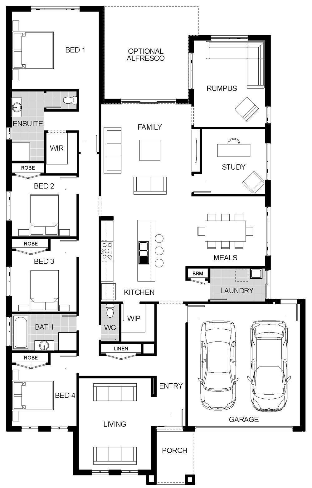 Floorplan Arcadia My Edit I Really Like The Bedroom Set Up But Not Sold On The Living Room Areas Floor Plan Design Floor Plan Creator House Floor Plans