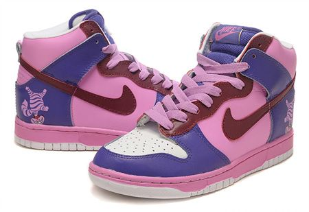 buy popular ea863 0d847 Customs Nike Cheshire Cat Dunk High Shoes