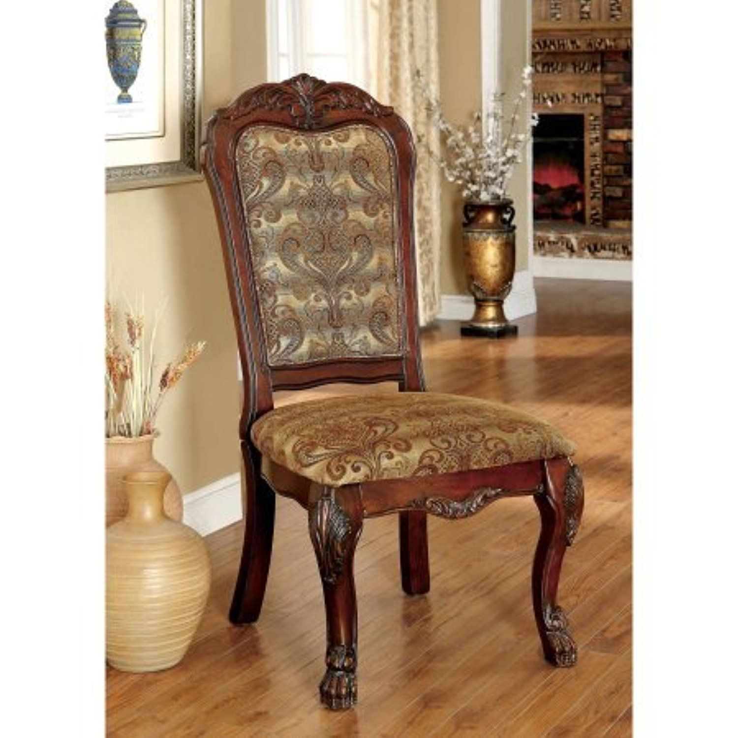 Furniture of america renon traditional formal dining chair