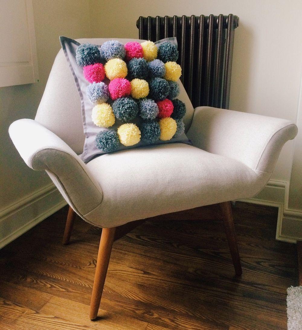 Make this pompom cushion for less than a tenner fabrics pom pom