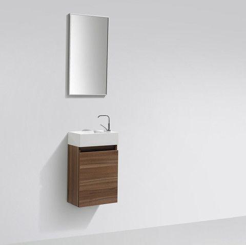 meuble lave main salle de bain design siena largeur 40 cm noyer mlamin