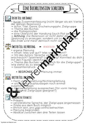 Eine Buchrezension Schreiben Unterrichtsmaterial Im Fach Deutsch In 2020 Buchrezension Schreiben Bucher Unterrichtsmaterial