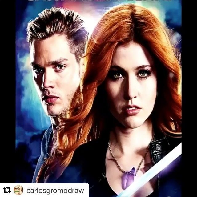 This is so good! #Clace #Shadowhunters  By - @carlosgromodraw . . . . #katherineMcnamara #katMcnamara #domsherwood #dominicsherwood #jacewayland #claryfray #jacelightwood