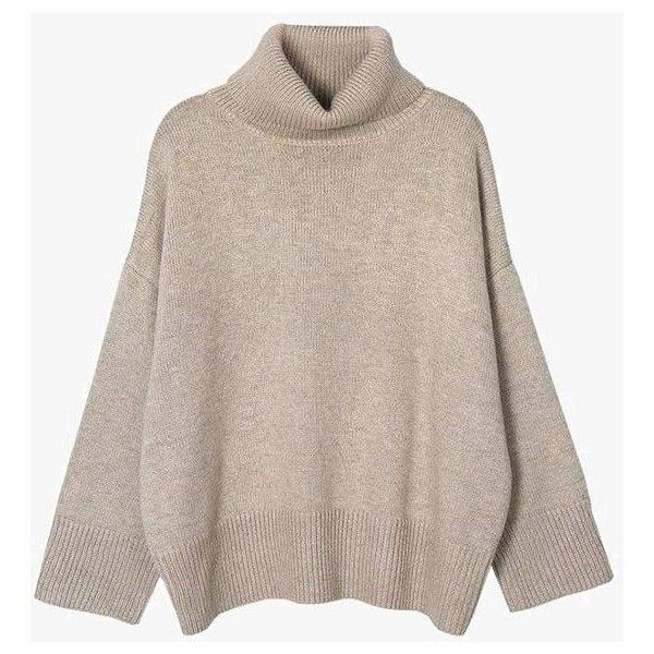 Turtleneck Crop Sweater ($79) ❤ liked on Polyvore featuring tops ...