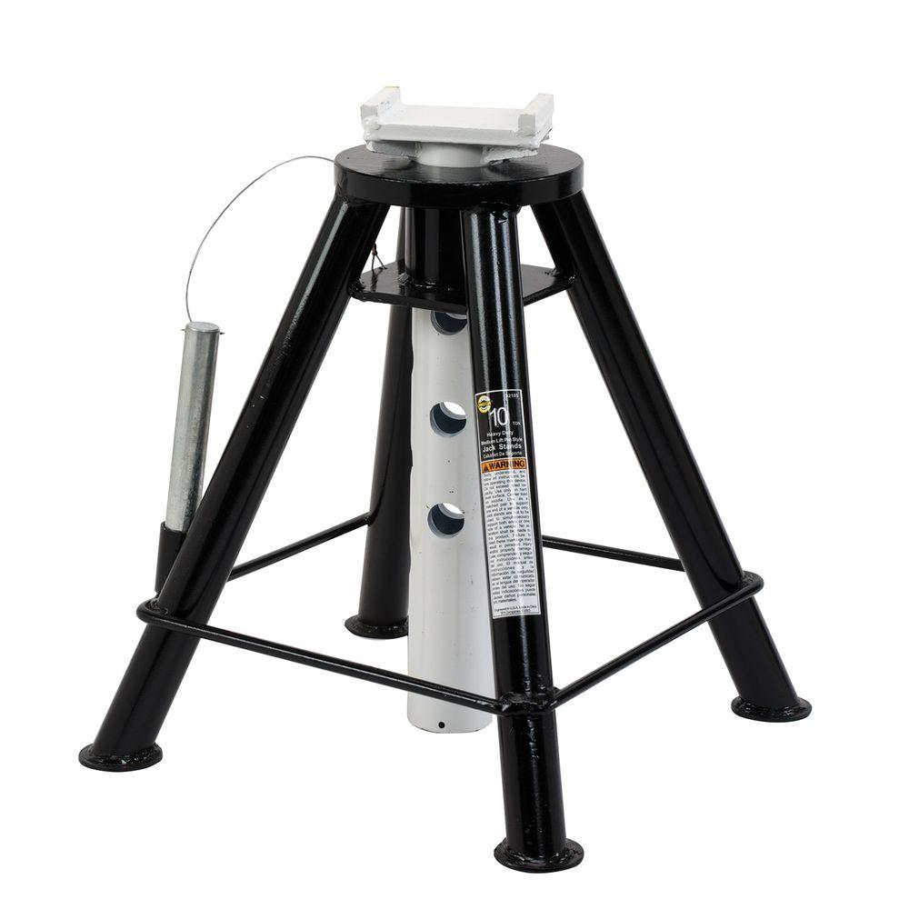 Omega 32105b 10 Ton Heavy Duty Jack Stands 32105b The Home Depot Jack Stands Heavy Duty Ductile Iron