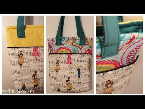 Learn How To Sew A Beautiful Lined Tote Bag With Outer Pockets On Both The Front And Back With This Outstanding F Tote Bag With Pockets Diy Tote Bag Modern Bag