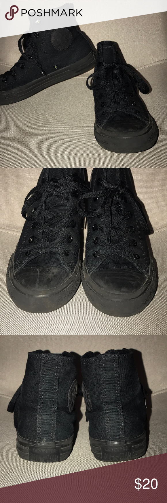 7b1eec987e09 Converse high tops Kids Converse high tops in excellent condition! Cute for  a boy or girl