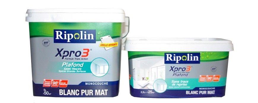 RIPOLIN Xpro3 Plafond Sans Trace De Reprise Blanc Mat