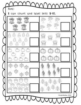 Kindergarten Math Fall Math Math Printables Fall Math Activities