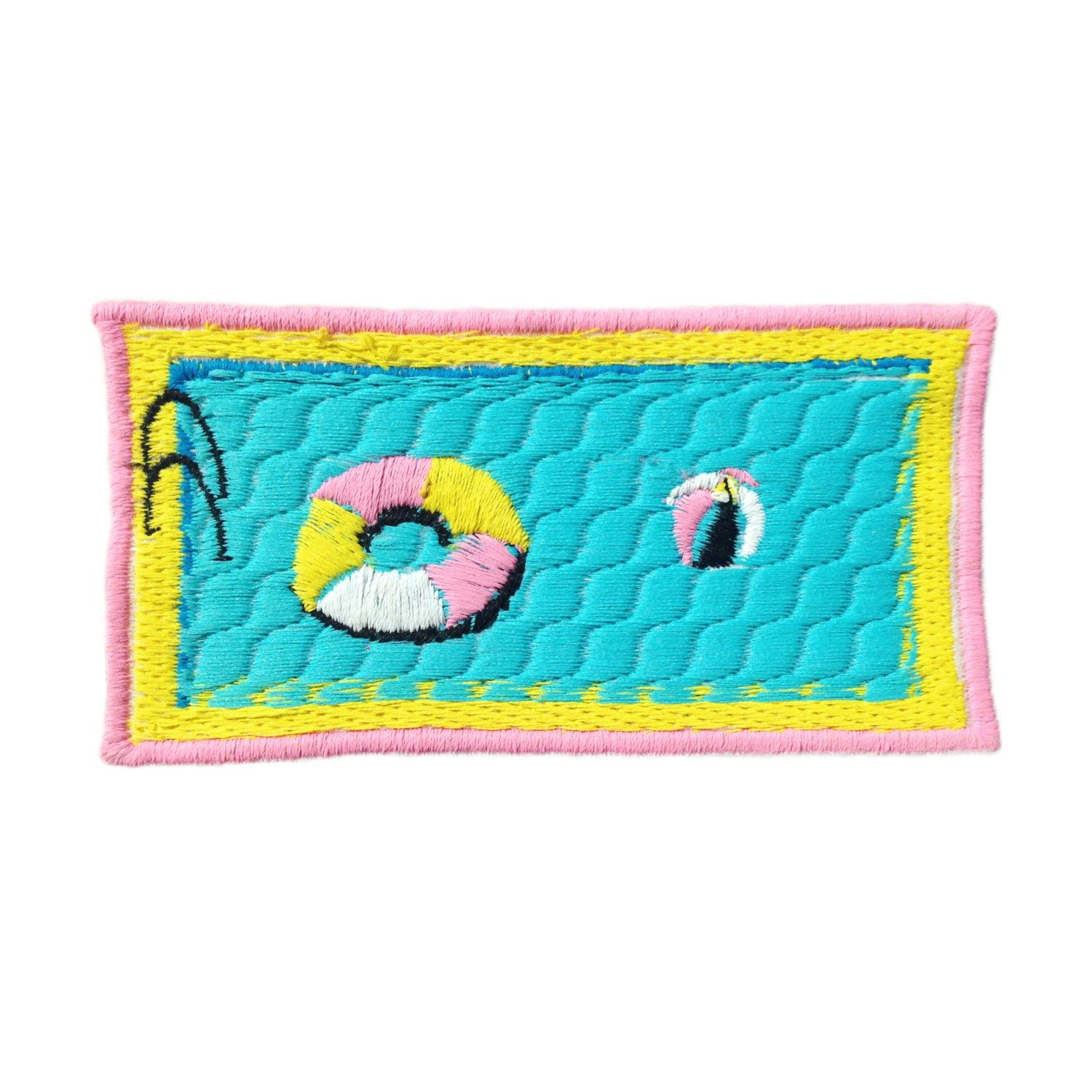 Swimming Pool Iron On Patch By Jess Warby by jesswarbyshop on Etsy https://www.etsy.com/listing/237549237/swimming-pool-iron-on-patch-by-jess