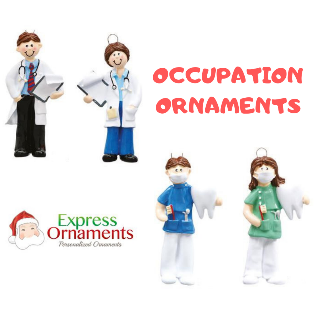 #Occupation ornaments We specialize in making personalized ...