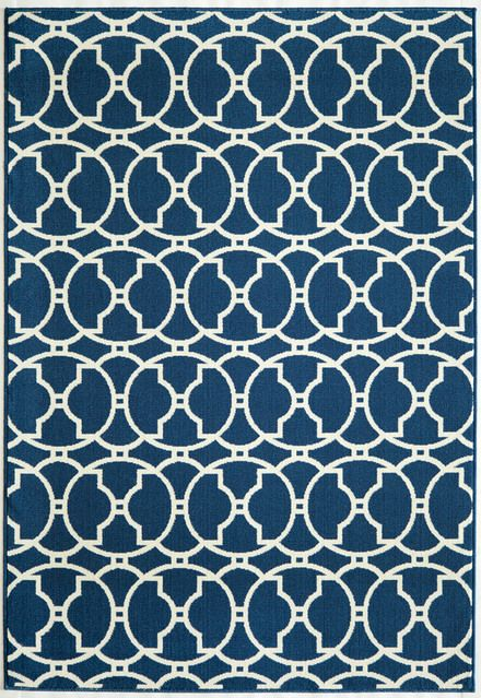 Contemporary Momeni Navy Baja Baj11 Rug