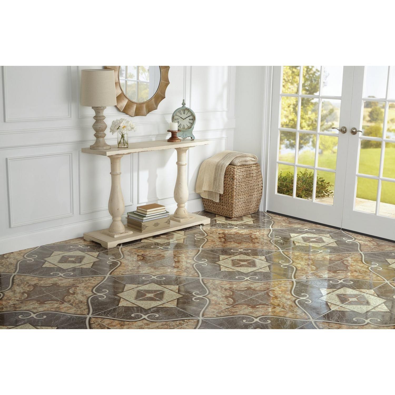 Via Roma Champagne Ceramic Tile 18in X 100404078 Floor And Decor