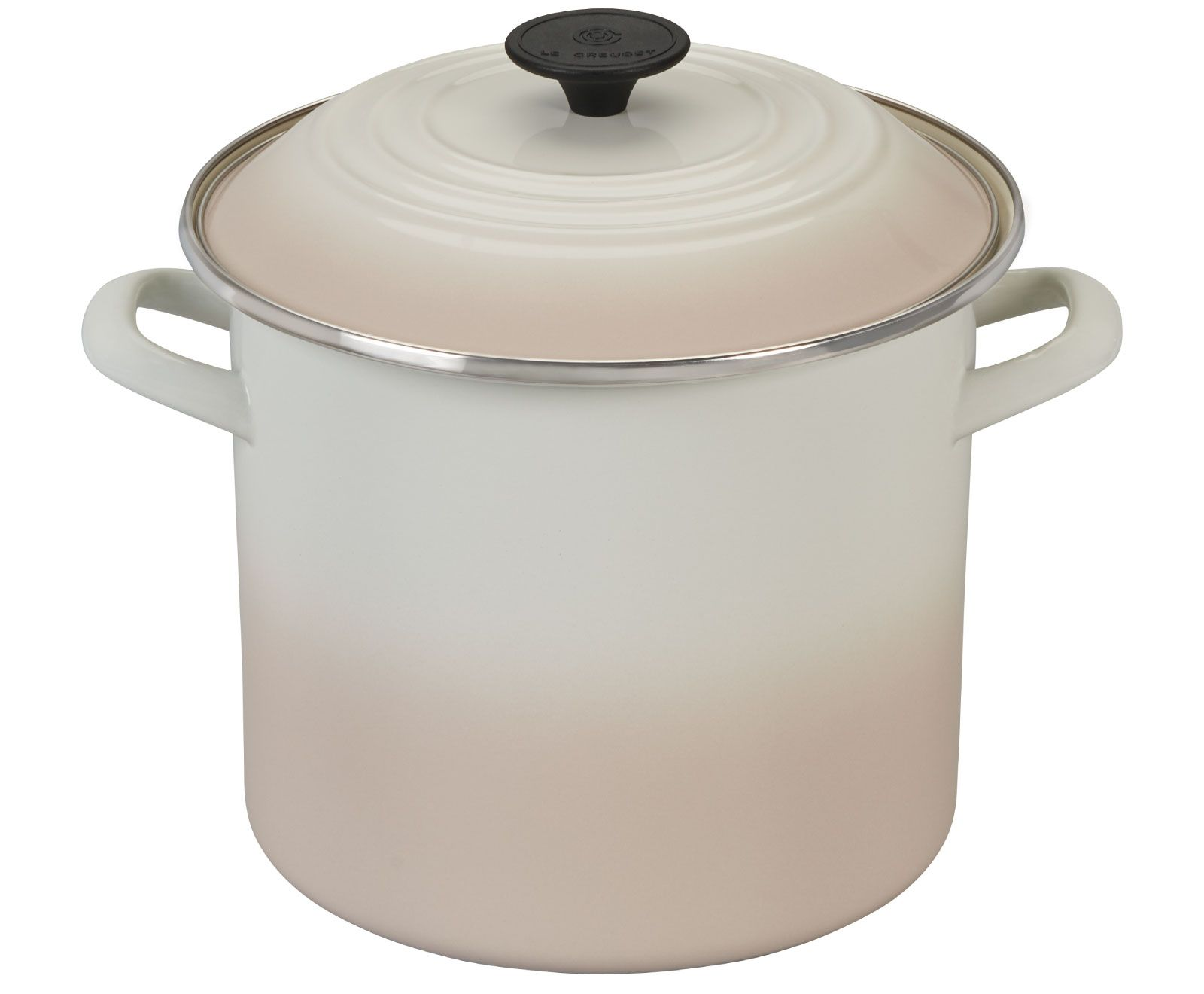 Le Creuset Stockpot Meringue Profile Design Steel Rims Meringue