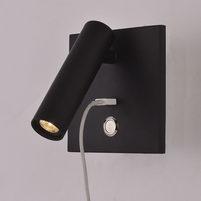 Zerouno Led Wall Lamp Bedroom Reading Light Usb Charger Bedside Night Light 3w Led Lighting Adjutable Wall Sconce Bedside Wall Lamp Led Wall Lights Wall Lights