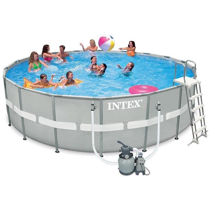 Piscina Intex redonda Ultra Frame depuradora arena 549x132 26332NP