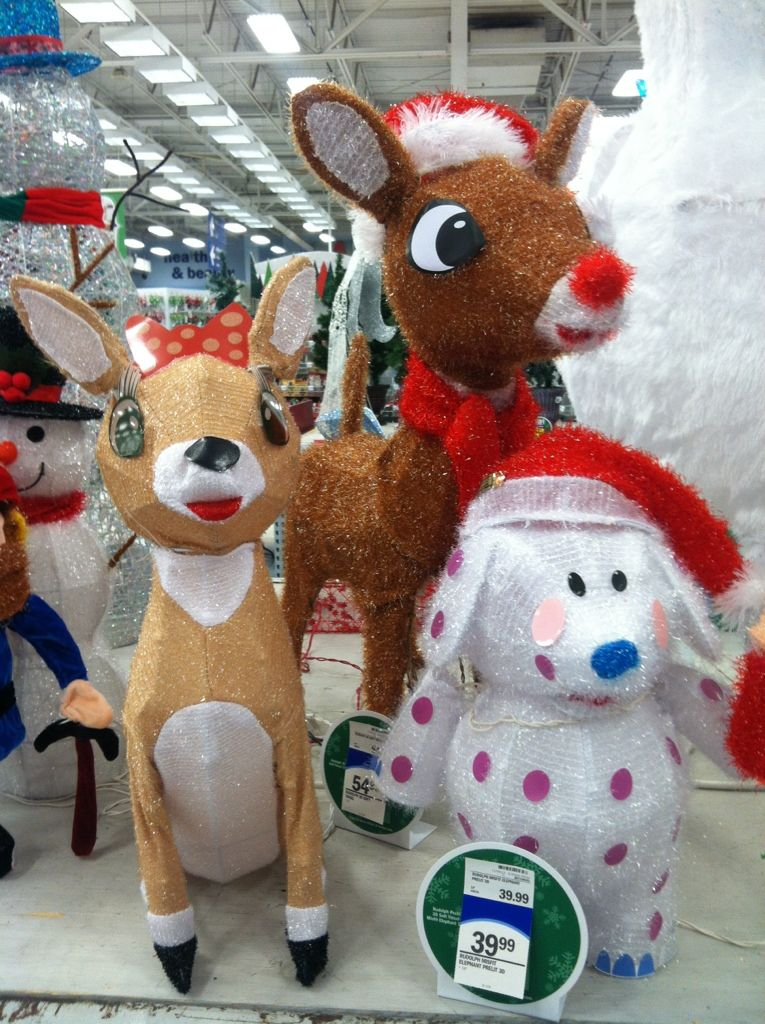 Adorable Christmas yard lawn decorations that light up. Rudolph and ...