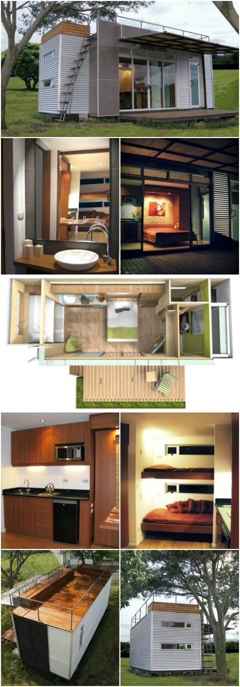 Beautifully Upcycled Shipping Container Tiny House by
