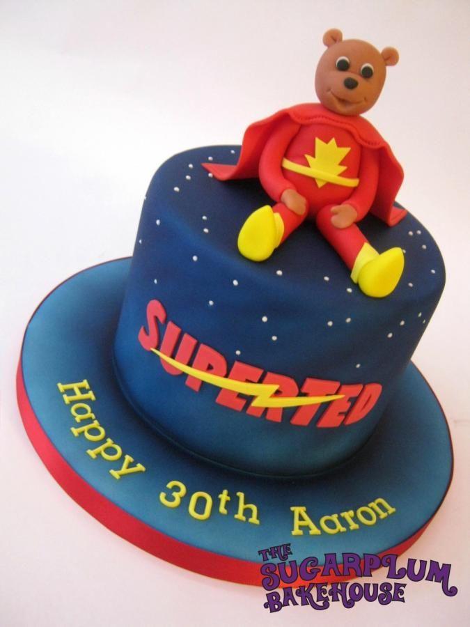 Superted Cake By Sam Harrison Retro Cartoon Birthday