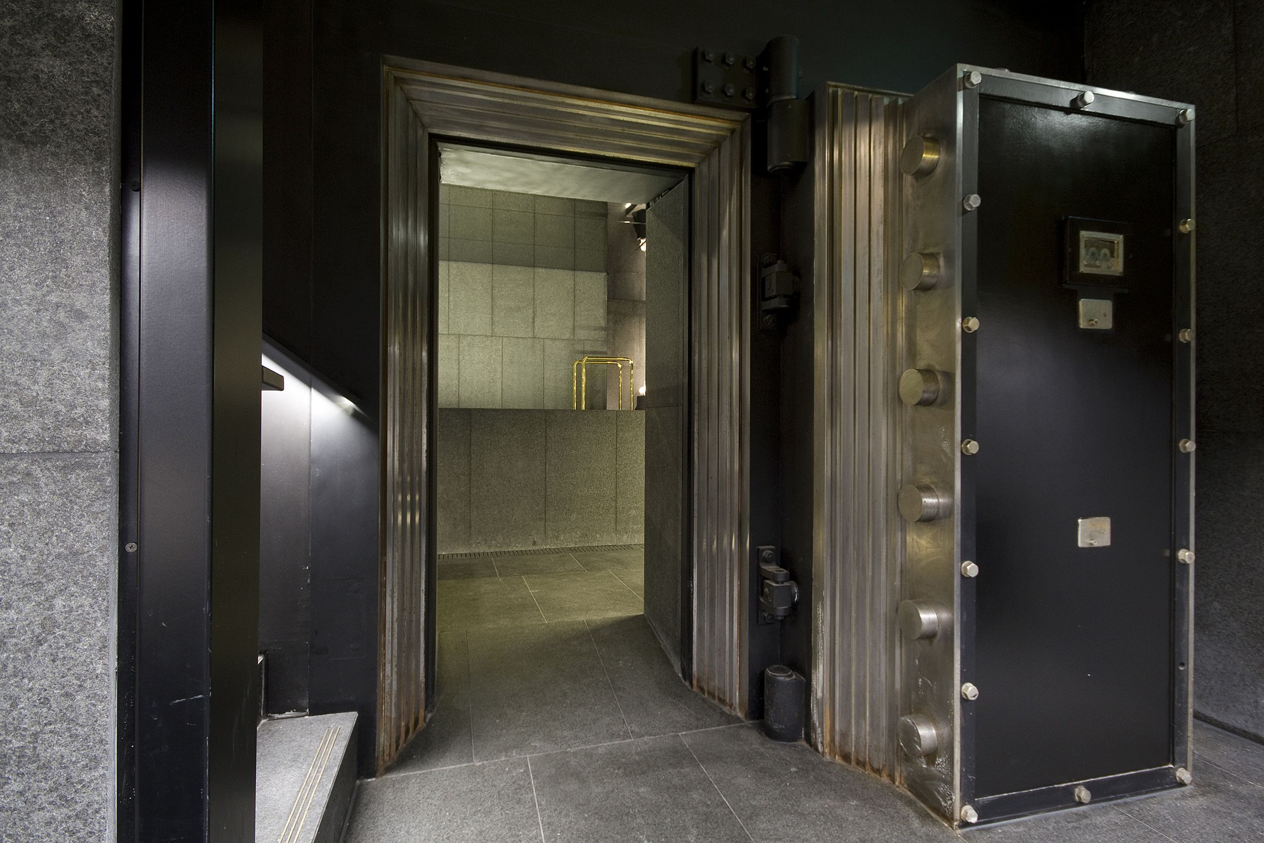 W Away Spa Amsterdam The Spa entrance the heavy vault door a