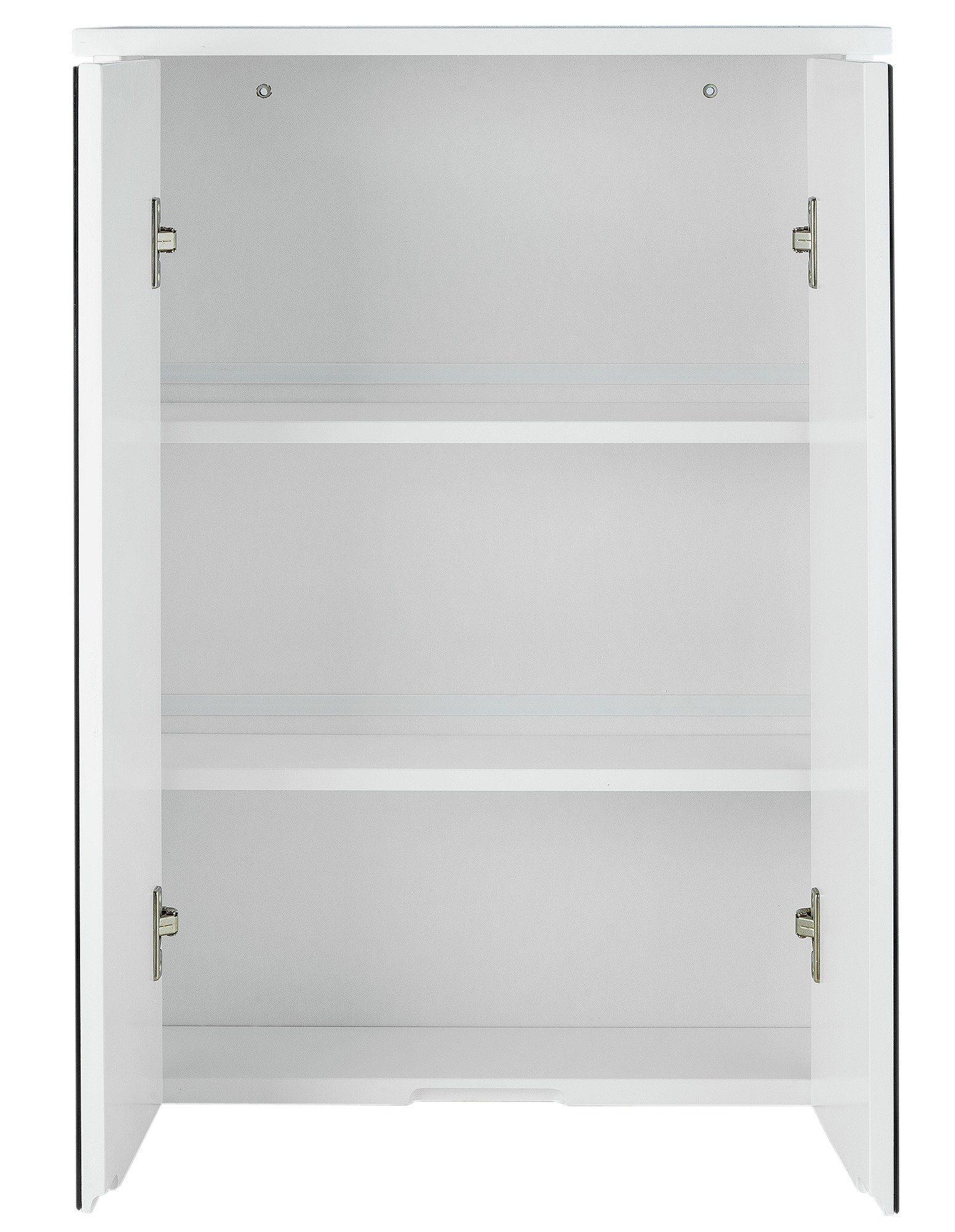 Mirrored Cabinet. Woodframe Mirrored Cabinet. Clover Black Mirrored ...