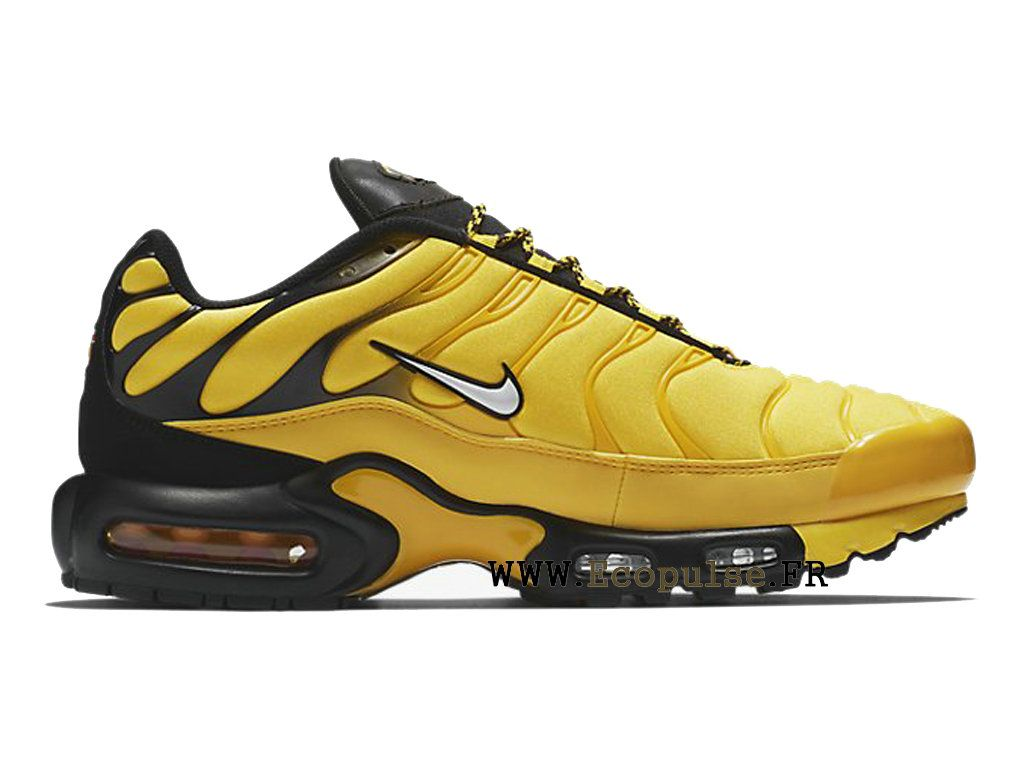 huge selection of 218fa c8948 Nike Air Max Tn Requin 2019 Chaussures Nike Sportswear Pas Cher Pour Homme  Jaune noir AV7940