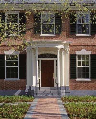 Dell Mitchell Architects Home Federal Style House Front Porch Design Architect