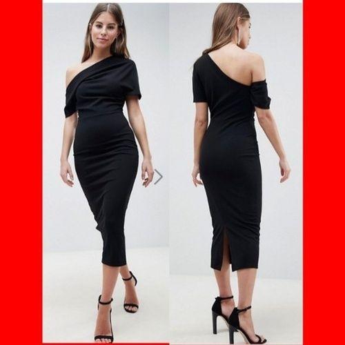 b77676888f76 ASOS DESIGN pleated shoulder pencil dress #afflink #womensfashions  #ladiesfashion #dresses #ShopStyle