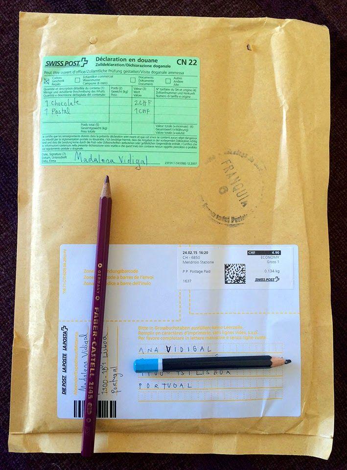 ana vidigal: Swiss post | Chegou hoje (da Madalena) | Thanks da...