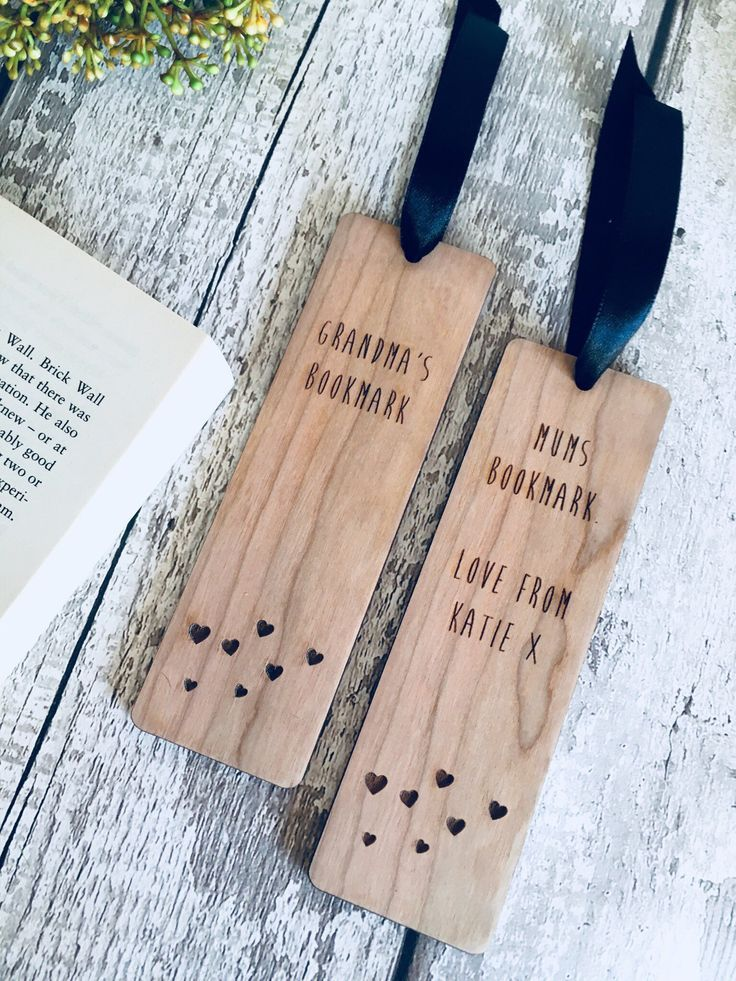 Bookmark wooden bookmark personalised bookmark gift for