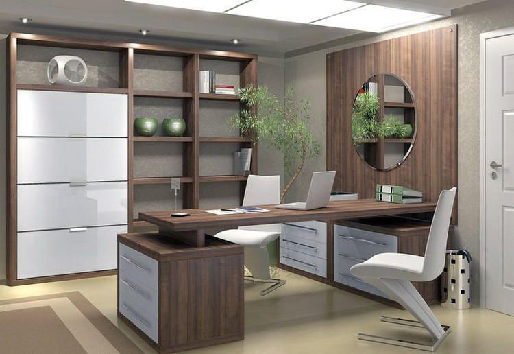elegant zen office furniture | office interior design ideas