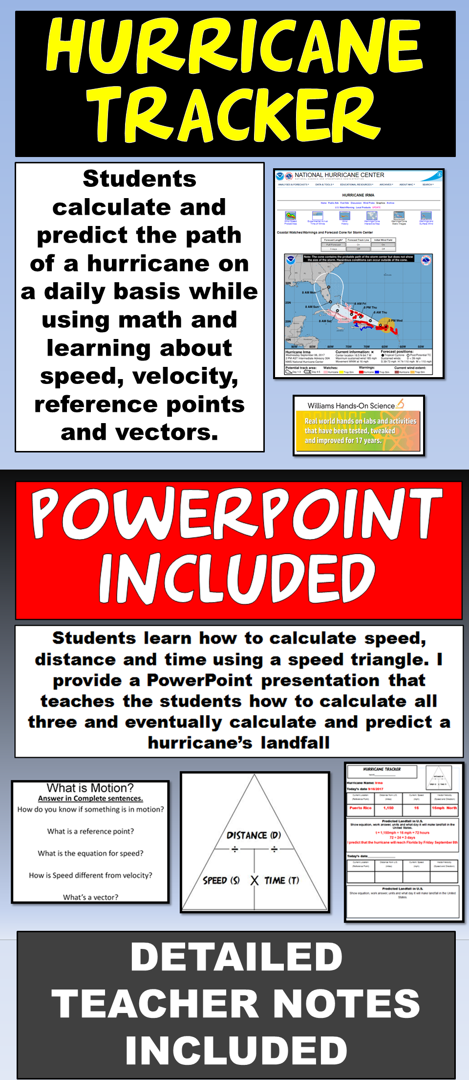 Hurricane Tracker Template Powerpoint Distance Learning School Site Teaching Fun