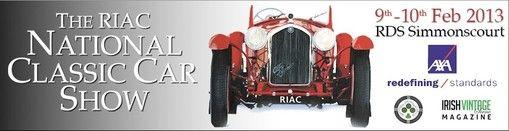 Национальная выставка-шоу классических и старинных автомобилей в Дублине  9 – 10 февраля 2013 г.