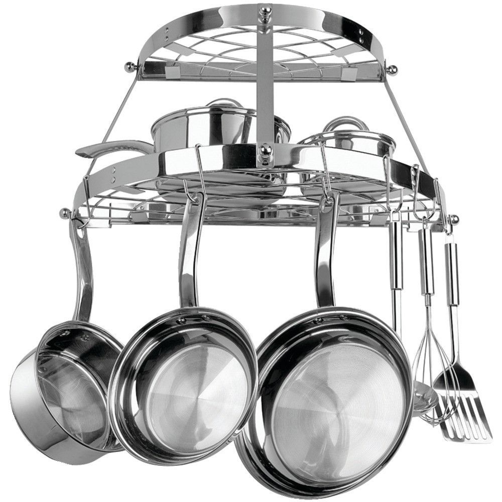 Range Kleen Double Shelf Wall Mount Pot Rack (stainless Steel) – MNM Gifts