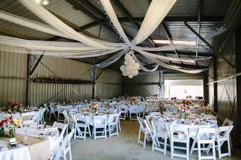 Wedding reception in a shed