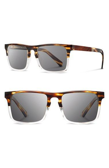 Men s Shwood  Govy 2  53mm Sunglasses - Whiskey Soda  Grey ... 28d47fc69e