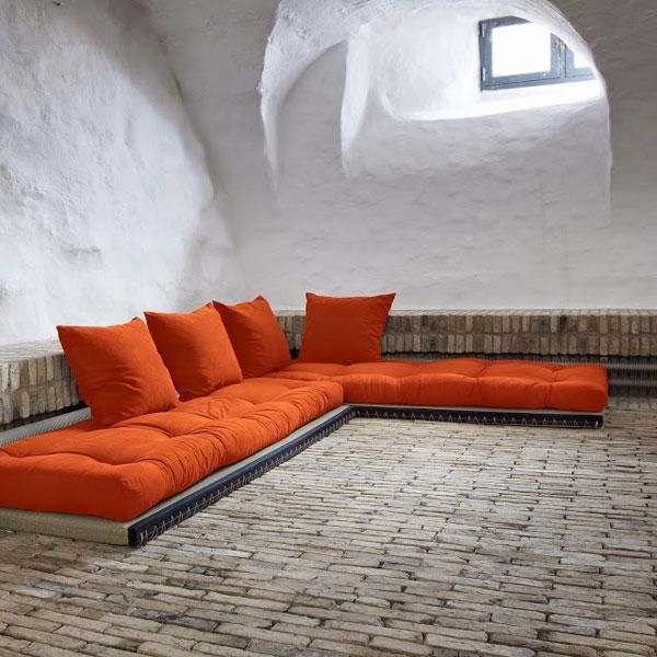 Sofá cama Chico naranja | estil japon | Pinterest | Sofás cama, Sofá ...
