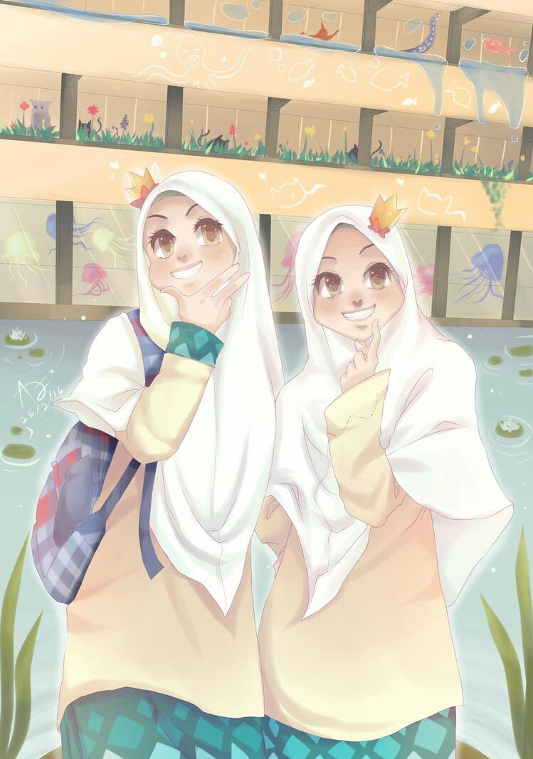 Can I Comment On How Pretty Their Uniform Is Kartun Animasi Seni Islamis