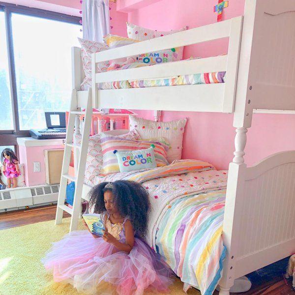 Organic Kayla Rainbow Stripe Duvet Cover Childrens Room
