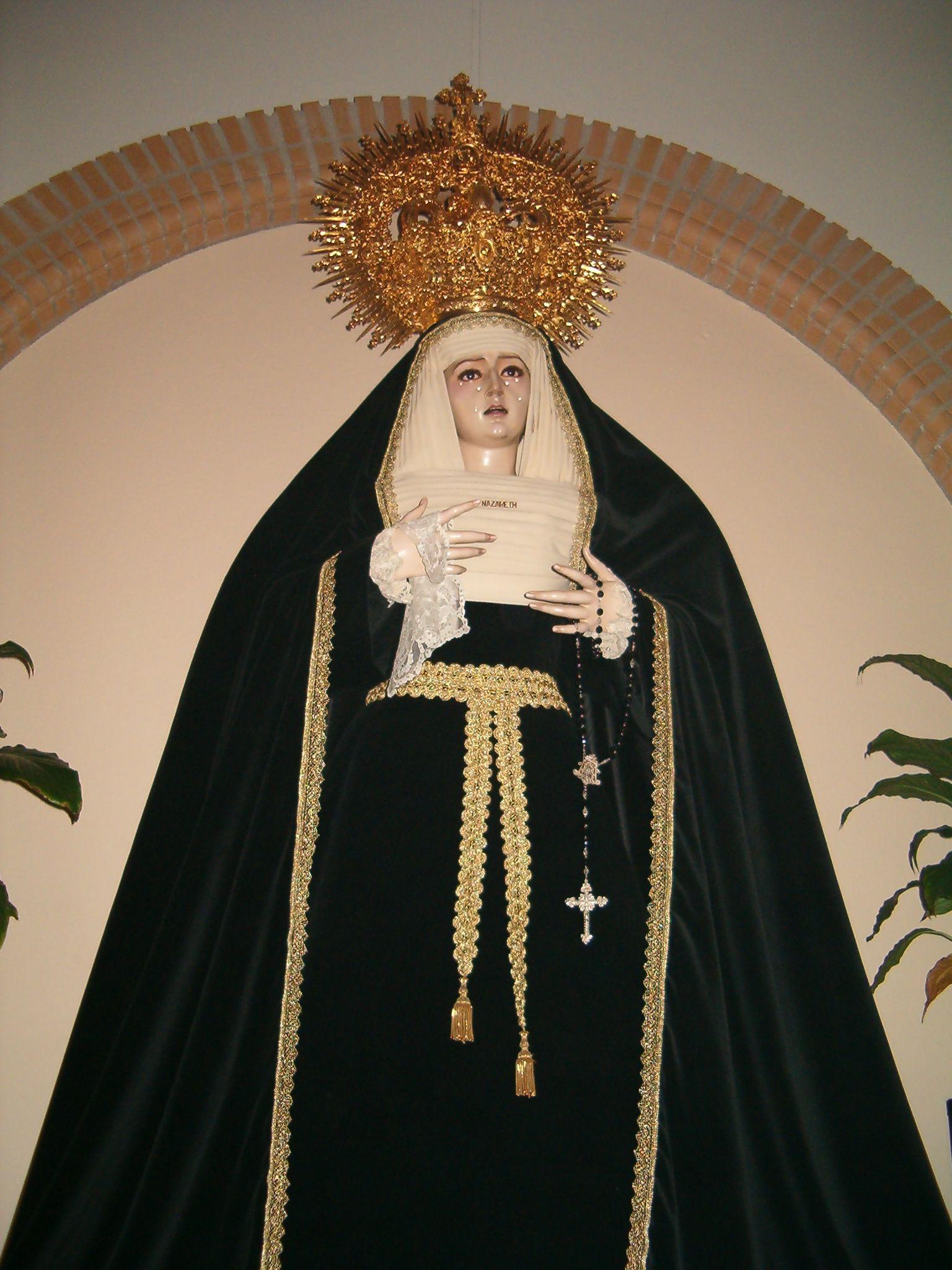 imagen de la virgen de Nazareth
