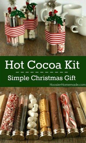 Diy Christmas Gifts Pinterest.Kit Cioccolata Calda Christmas Pinterest Christmas