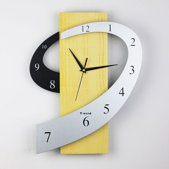 Qiyue home decoration affton 3d wall clock creative clock wall watch modern design wall reloj clock large wall clockswood